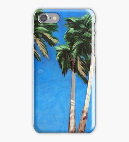 Daytime Moon - Palm Springs landscape  iPhone Case/Skin