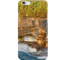 Sea Caves Pounded by Superior Waves iPhone Case/Skin