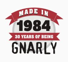 Awesome 'Made in 1984, 30 Years of Being Gnarly' T-Shirt by Albany Retro