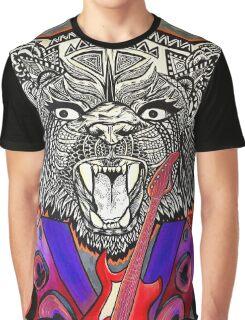 Bear Guitar Graphic T-Shirt