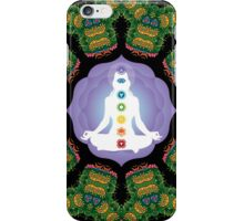 Psychedelic jungle kaleidoscope ornament 23 iPhone Case/Skin