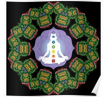 Psychedelic jungle kaleidoscope ornament 23 Poster