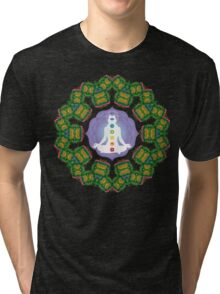 Psychedelic jungle kaleidoscope ornament 23 Tri-blend T-Shirt