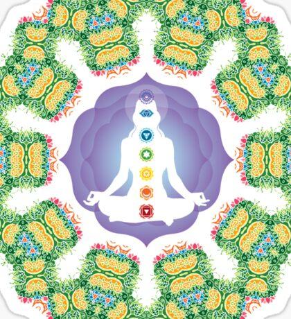 Psychedelic jungle kaleidoscope ornament 23 Sticker