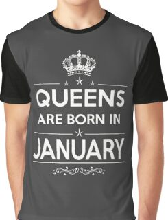 queens are born in january 2 Graphic T-Shirt