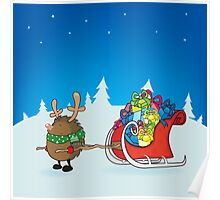 rudolph the red nosed hedgehog Poster