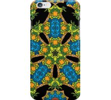 Psychedelic jungle kaleidoscope ornament 24 iPhone Case/Skin