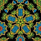 Psychedelic jungle kaleidoscope ornament 24 by Andrei Verner
