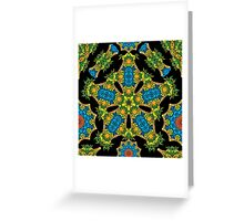 Psychedelic jungle kaleidoscope ornament 24 Greeting Card