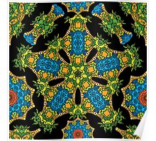 Psychedelic jungle kaleidoscope ornament 24 Poster