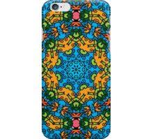 Psychedelic jungle kaleidoscope ornament 25 iPhone Case/Skin