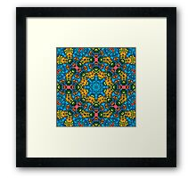 Psychedelic jungle kaleidoscope ornament 25 Framed Print