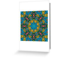 Psychedelic jungle kaleidoscope ornament 25 Greeting Card