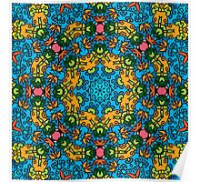 Psychedelic jungle kaleidoscope ornament 25 Poster