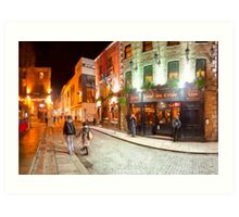 Night Out In Temple Bar - Dublin Ireland Art Print