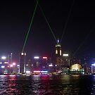 Laser Show Hong Kong Harbour by Lynn Bolt