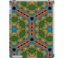 Psychedelic jungle kaleidoscope ornament 26 iPad Case/Skin