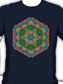 Psychedelic jungle kaleidoscope ornament 26 T-Shirt