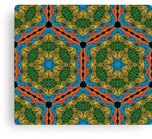 Psychedelic jungle kaleidoscope ornament 26 Canvas Print