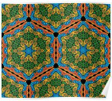 Psychedelic jungle kaleidoscope ornament 26 Poster