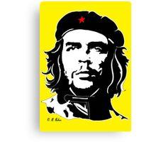 Che Guevara yellow background Canvas Print