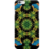 Psychedelic jungle kaleidoscope ornament 27 iPhone Case/Skin