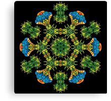 Psychedelic jungle kaleidoscope ornament 27 Canvas Print