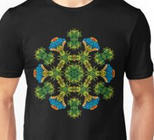Psychedelic jungle kaleidoscope ornament 27 Unisex T-Shirt
