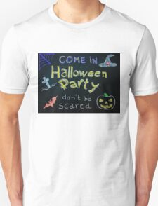 Halloween Party invitation Unisex T-Shirt