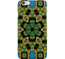 Psychedelic jungle kaleidoscope ornament 28 iPhone Case/Skin