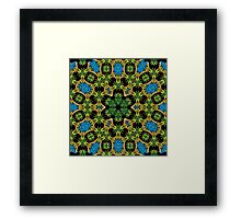 Psychedelic jungle kaleidoscope ornament 28 Framed Print