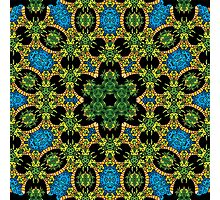Psychedelic jungle kaleidoscope ornament 28 Photographic Print