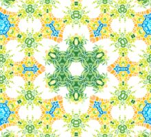 Psychedelic jungle kaleidoscope ornament 28 Sticker