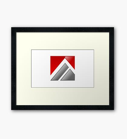 abstract-logo-A-alphabet Framed Print