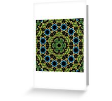 Psychedelic jungle kaleidoscope ornament 29 Greeting Card