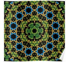 Psychedelic jungle kaleidoscope ornament 29 Poster
