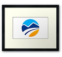 abstract-mountain logo Framed Print