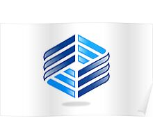 abstract-square-shine-logo Poster