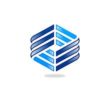 abstract-square-shine-logo Photographic Print