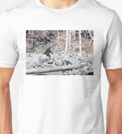 Bigfoot Caught On Camera!!! Unisex T-Shirt