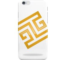 abstract-square-alphabet-H-logo iPhone Case/Skin