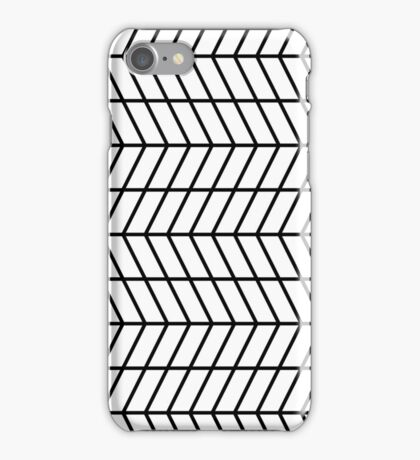 Black Herringbone Outline iPhone Case/Skin