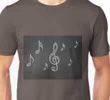 Music notes on blackboard 2 Unisex T-Shirt