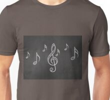 Music notes on blackboard 3 Unisex T-Shirt