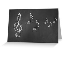 Music notes on blackboard 4 Greeting Card