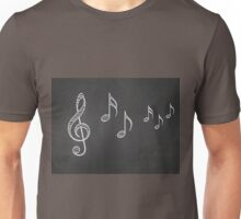 Music notes on blackboard 4 Unisex T-Shirt