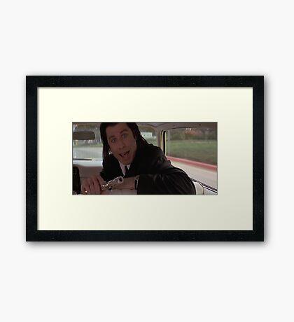 Vince Vega Shot Marvin In The Face! Framed Print