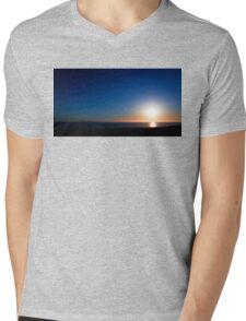 Ventura Sunset Mens V-Neck T-Shirt