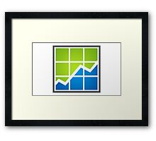 chart-line-in-the-box-logo Framed Print