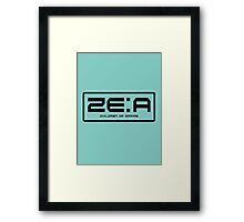 ZE:A Framed Print
